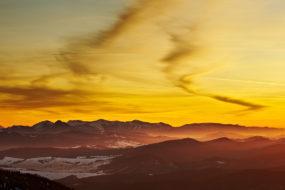 Zywiecké Beskydy – Pilsko, večerní pohled na Malou Fatru
