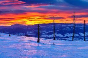 Slezské Beskydy – Baraní hora, svítání