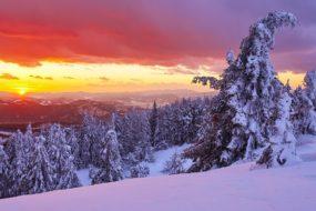 Kysucké Beskydy – Velká Rača, poslední paprsky slunce
