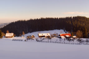 Zimní poetika horských samot