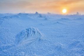 Zywiecké Beskydy – Zimní západ slunce na Pilsku