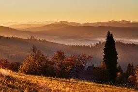 Slezské Beskydy – Bahenec, podzimní ráno